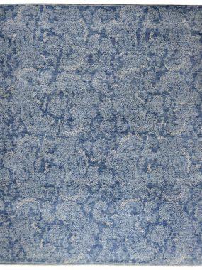 Handgemaakt exclusief wollen karpet Pashmina in blauw en beige. Verkrijgbaar in: Tilburg Breda Eindhoven Heerenveen en Enschede