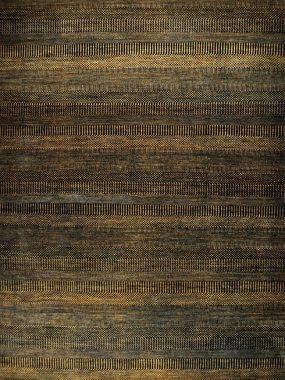 Modern en trendy karpet Illuision van wol in zwart en geel.