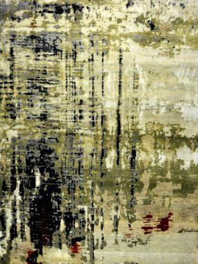 Modern handgeknoopt groen blauw karpet / tapijt Picasso. Past in elk interieur. Te koop in Tilburg Doetinchem Leiden Hoogeveen en Enschede.