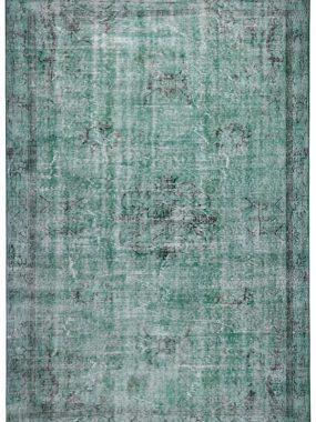 Vintage licht groen tapijt Adana is direct leverbaar uit eigen voorraad