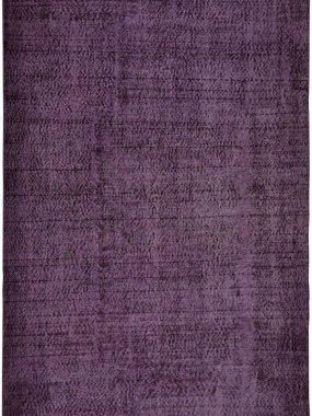 Vintage paars handgeknoopt tapijt Adana.