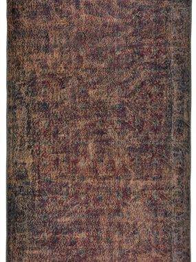 Adana oud vintage wollen tapijt in roze bruin. Past goed in woon of huiskamer.