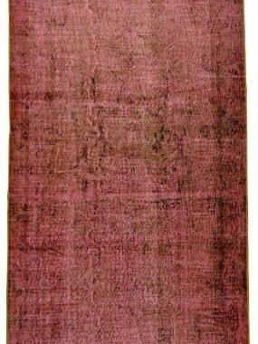 Wollen roze zwart handgemaakt vintage karpet Adana. Ideaal in modern interieur. Onze winkels: Tilburg Den Bosch Didam Breda en Voorschoten