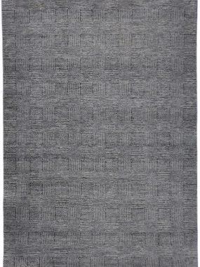 vloerkleed bmyan grijs is gemaakt van zuiver scheerwol
