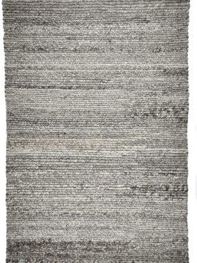 Hoogpolig zacht wollen grijs tapijt met hoge bolletjes of lussen. Cameron mooi in modern woon of huiskamer. Te koop in Breda en Tilburg