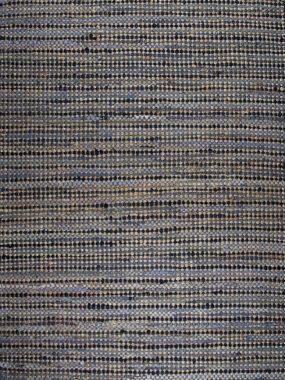 Trendy en modern betaalbaar tapijt. Doha: blauw en beige katoen / denim. Perez winkels: Tilburg Arnhem Doetinchem Wolvega en Heerenveen