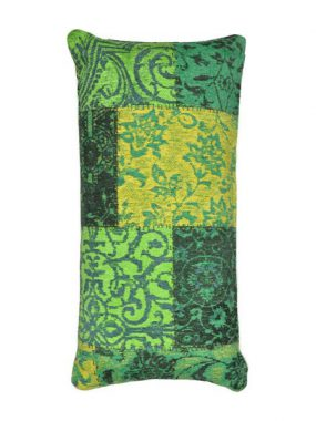 vintage patch kussen groen