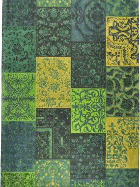 vloerkleed Dalyan Patch vintage groen
