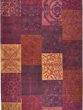 Roze en rood Patchwork (vlakken) vintage tapijt Dalyan met diverse maten. Perez winkels: Didam Eindhoven Tilburg en Breda