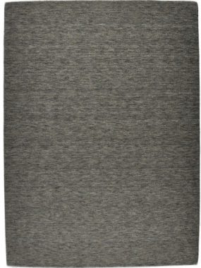Handgemaakt wollen design karpet Eco in grijs en beige.