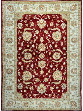 Vintage tapijt ziegler Farahan in rood beige