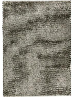 Met grove structuur geweven wollen vloerkleed Havana in wit en grijs. Voelt zacht aan en is te koop in Tilburg Breda en Eindhoven
