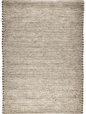 Dik geweven wollen wit en beige zacht karpet. Ook in maatwerk verkrijgbaar.
