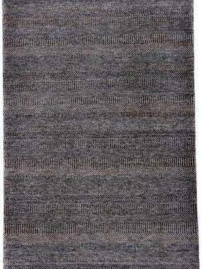 handgemaakt tapijt Illusion met zwart en grijs modern dessin. Mooi in elk interieur. In Didam Tilburg Eindhoven en Den Bosch te koop