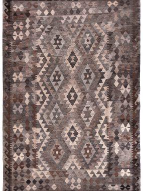 Handgeknoopt Kelim tapijt naturel. Bruin en beige. Direct leverbaar bij Perez vloerkleden in Tilburg.