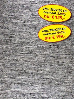 Aanbieding sale -goedkoop vloerkleed of tapijt- Lima zwart grijs. Leverbaar in diverse kleuren en maten, verkrijgbaar bij Perez vloerkleden.