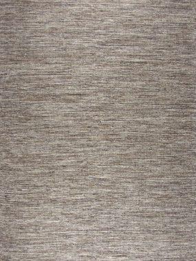 Bovenkant van trendy bruin beige katoen karpet Lima.