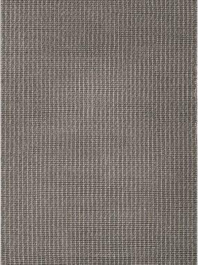 Zacht modern karpet London met dikke wollen garens in grijs.