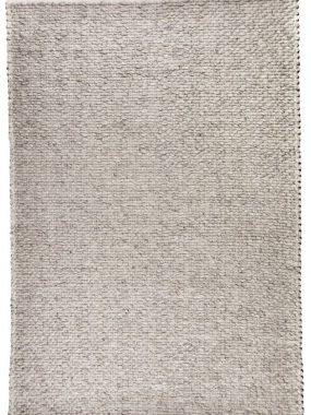 Zacht en grijs tapijt Lorenzo met grof wollen plat geweven structuur. De vloerkledenspecialist: Tilburg, Didam Den Haag en Heerenveen