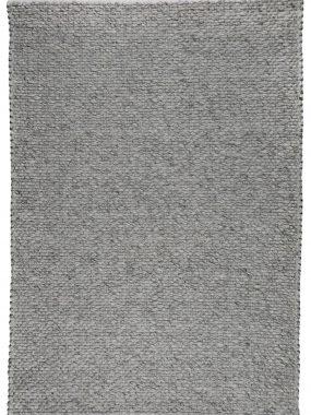 modern flatwave grijs wollen vloerkleed