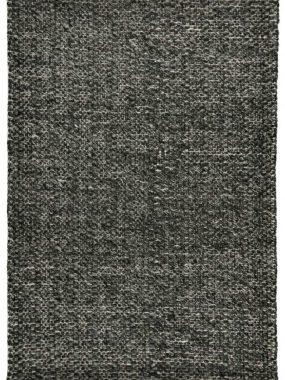 Dik en zacht antraciet vloerkleed Lorenzo met grove wol structuu+r. Past goed in modern interieur. In Tilburg en en Bosch verkrijgbaar.