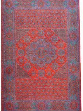 Mamluk exclusief oosters handgeknoopt wollen karpet in de kleuren rood en blauw. Perez Tilburg Arnhem Hoogeveen en Eindhoven
