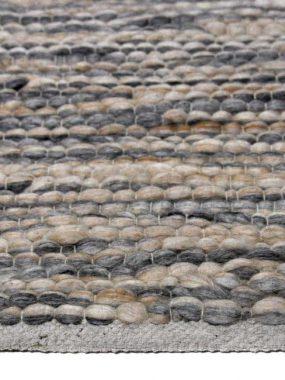 Zacht wollen plat geweven tapijt Milos met grove hoge structuur. In kleuren grijs beige en wit. Te koop: Tilburg Wolvega Didam en Eindhoven