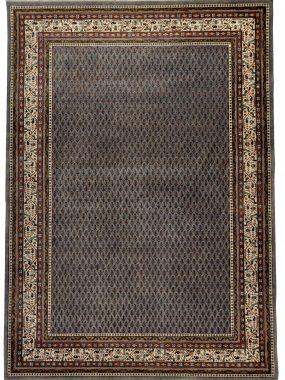 Luxe Perzisch handgeknoopt vloerkleed Mir plain in grijs en bruin. Ideaal voor een klassieke woonkamer. Verkrijgbaar in Tilburg en Voorschoten