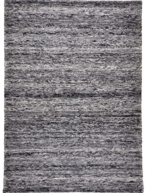 Modern karpet Montana plat geweven in blauw en beige wol. In Breda Eindhoven en Arnhem verkrijgbaar.