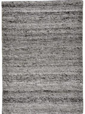 Handgeweven zwart en grijs vloerkleed Montana van zuiver scheerwol. Bezoek onze showroom: Didam Oldenzaal Tilburg Wolvega Voorschoten.