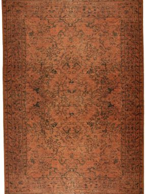 Karpet Novum in de kleur rood en bruin met vintage dessin. In diverse afmetingen en kleuren verkrijgbaar in Didam en Tilburg.