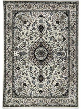 Handgeknoopt Perzisch wollen tapijt Nain A. Met beige en groen médaillon. Onze winkels: Voorschoten Didam Tilburg Leiden en Doetinchem