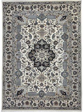 Handgeknoopt beige en blauw Perzisch vloerkleed Nain B. Mooi in zowel een modern als klassiek interieur. Onze winkels: Tilburg Didam Oldenzaal