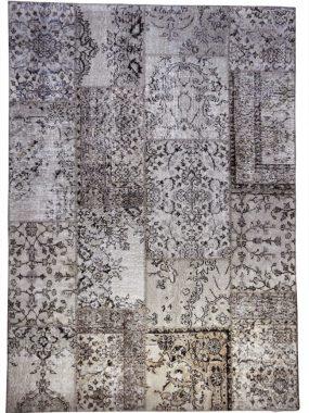 Vintage Patch vloerkleed in de kleuren Bruin en beige. Geschikt voor diverse interieurs.