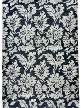 Zwart beige vloerkleed Shalimar Callco met bloemen motief. Geschikt voor moderne eetkamer of zitkamer. Te koop in Arnhem en Tilburg