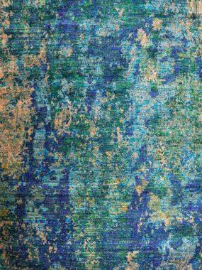 Trendy blauw groen tapijt of karpet Splash. Ideaal voor in modern interieur. Te koop in: Doetinchem Breda Wolvega Enschede en Den Haag.