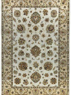 handgeknoopt Ziegler tapijt in licht beige en bruin is verkrijgbaar bij Perez vloerkleden