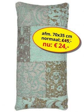 Aanbieding sale -vintage patch sierkussen- Dalyan. Leverbaar in diverse maten en kleuren. Verkrijgbaar bij Perez vloerkleden.