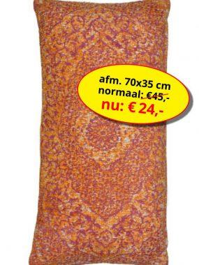 Sale aanbieding -goedkoop vintage sierkussen 70x35 cm- Tabriz oranje. Leverbaar in diverse maten en kleuren, verkrijgbaar bij Perez vloerkleden.
