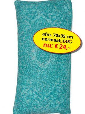 Aanbieding sale -goedkoop katoen vintage sierkussen 70x35 cm- Tabriz aqua. Leverbaar in diverse kleuren en maten, verkrijgbaar bij Perez vloerkleden.