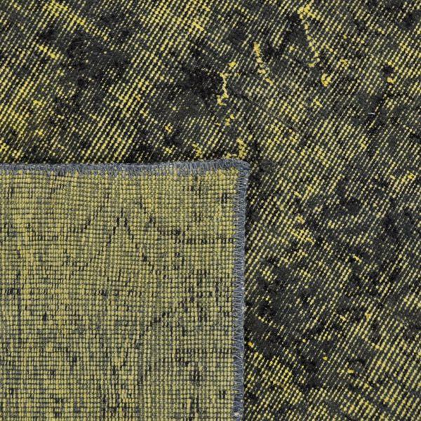 Vloerkleed Adana geel zwart achterkant
