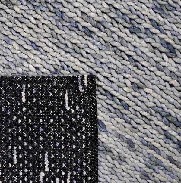 Vloerkleed Biron blauw achterkant