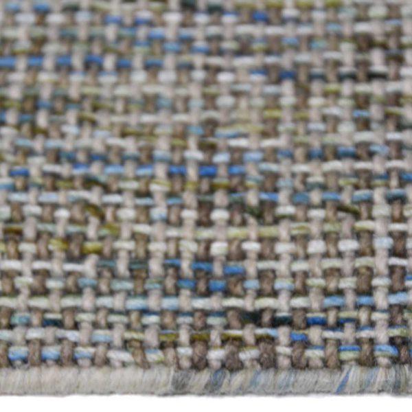 Karpet Bolivar blauw groen zijkant
