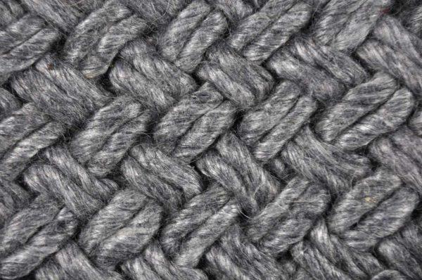 Vloerkleed Brianca donker grijs detail