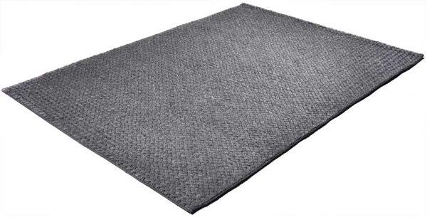 Vloerkleed Brianca donker grijs diagonaal