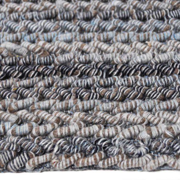 Karpet Carter bruin blauw zijkant