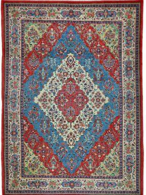 antiek handgeknoopt Sarouck tapijt verkrijgbaar bij Perez vloerkleden in Tilburg