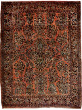 Zeldzaam antiek sarouk tapijt verkrijgbaar bij Perez vloerkleden