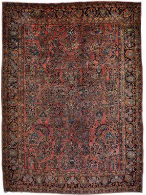 Antiek Perzisch Sarouck tapijt verkrijgbaar bij Perez vloerkleden