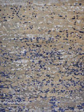 Handgeknoopt vloerkleed Nature Himalaya beige blauw is verkrijgbaar bij Perez vloerkleden